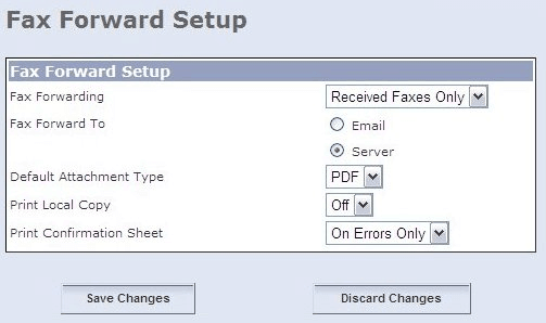 Setup Options for a Xerox Fax Machine
