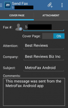 Sending a Fax From the App